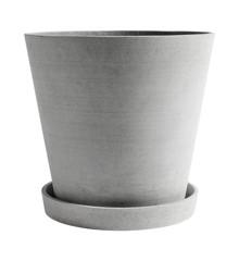 HAY - Flowerpot w/saucer XXXL - Grey (503636)
