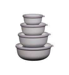 Rosti Mepal - Cirqula Low Bowl Set Of 4 - Nordic White (233103)