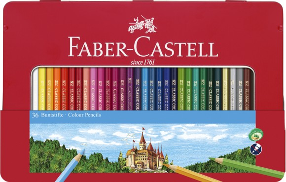 Faber-Castell - Color pencils hexagonal tin 36 pcs (115886)