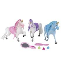 Happy People - Three Unicorns w. Different Colors (43240)