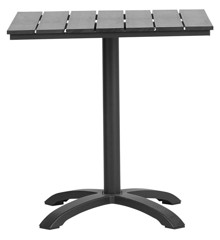 Living Outdoor - Mads Cafe Table 70 x 70 x 72 cm - Black (624042)