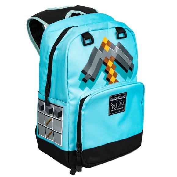 "Minecraft 17"" Diamond Pickaxe Backpack"