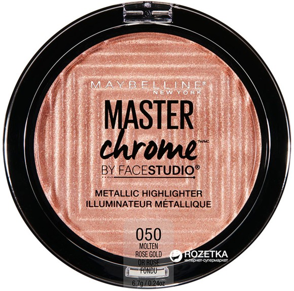 Maybelline - Master Chrome Metal Highlighter - 50 Molten Rose Gold