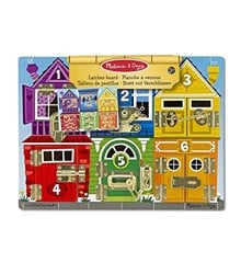 Melissa & Doug - Latches Wooden Activity Board (13785)