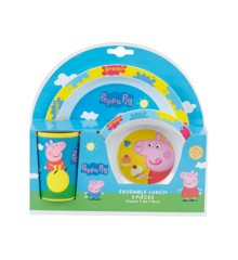 Peppa Pig - Melamine 3-piece meal set