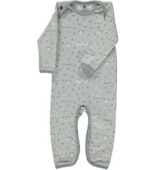 Småfolk - Body Suit w. Sophie La Girafe Print - Dawn Blue