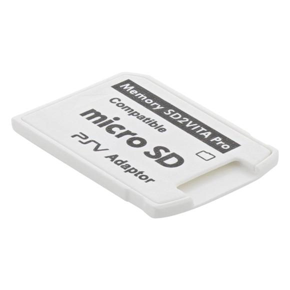 ZedLabz SD 2 Vita V5.0 memory card adapter for Sony PS Vita 3.6 HENKAKU firmware - white