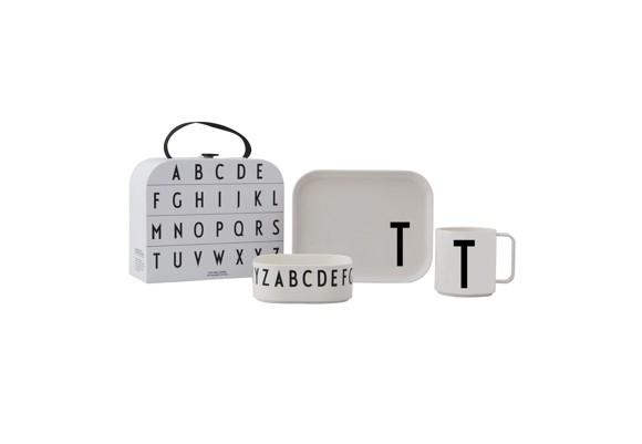 Design Letters - Gaveæske Tritan Spisesæt - T