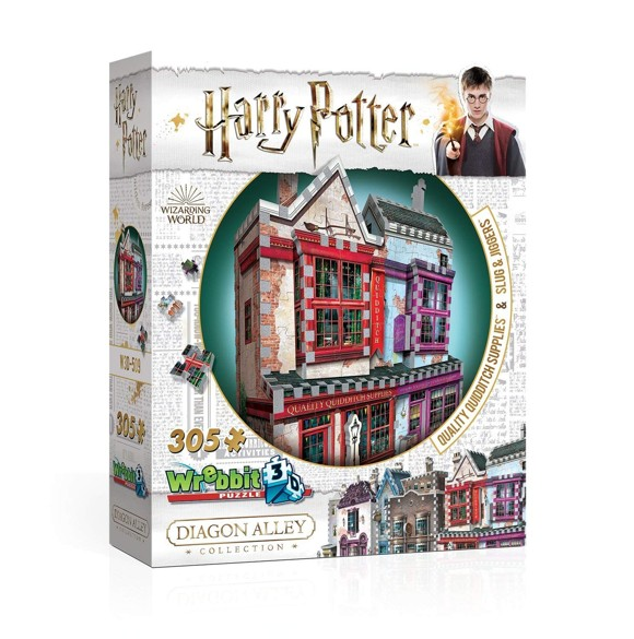 Wrebbit 3D Puzzle - Diagon Alley Collection - Quidditch Supplies & Slug & Jiggers