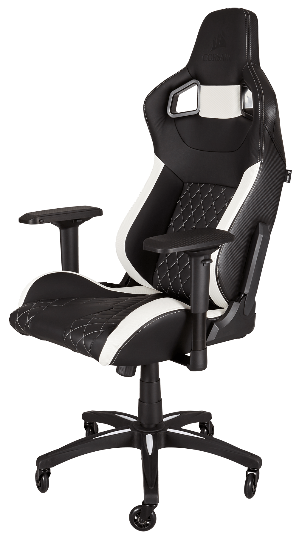 Køb Corsair Gaming T1 Race Gaming Stol SortHvid