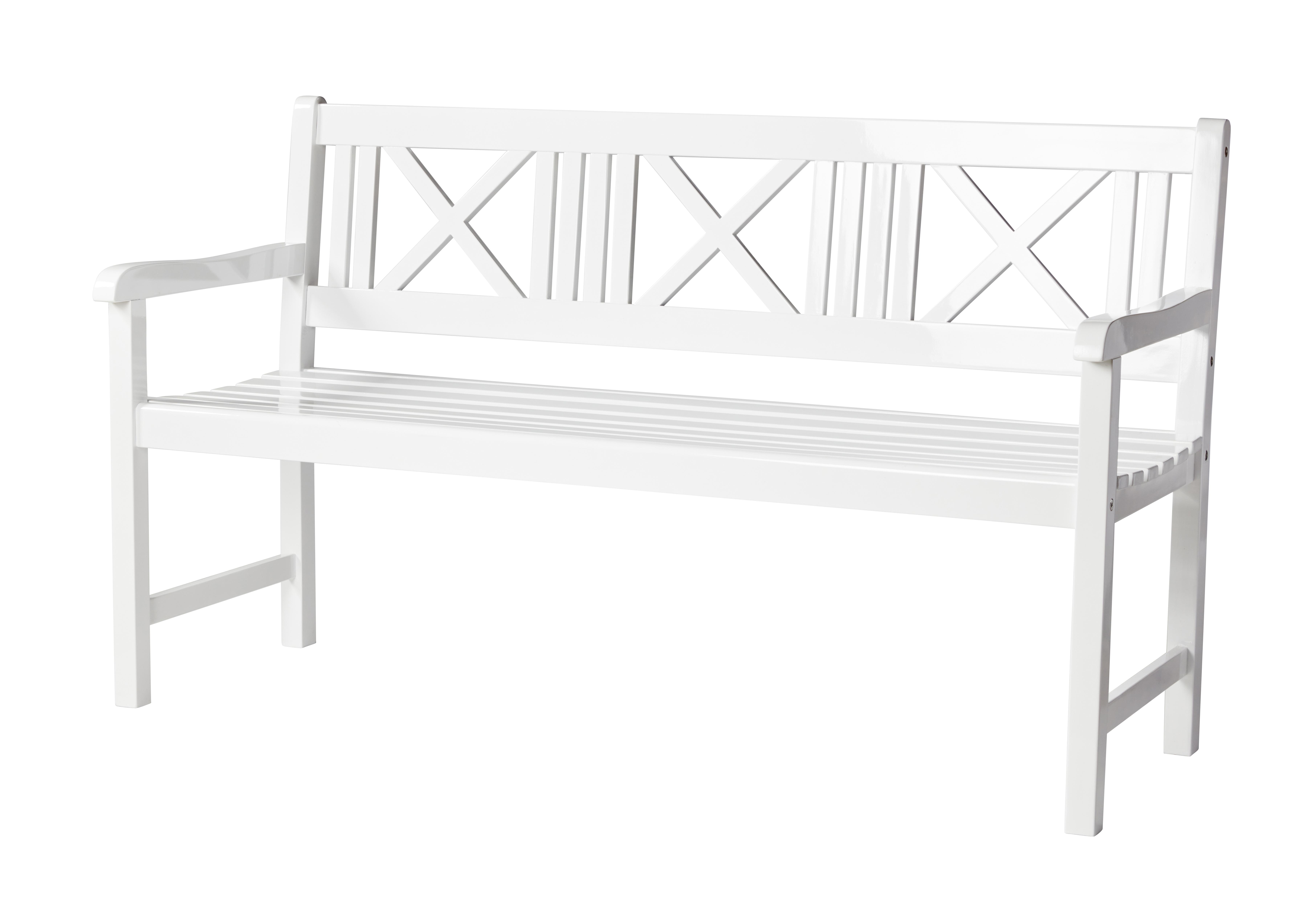 Billede af Cinas - Rosenborg Havebænk 150 cm - Hvid