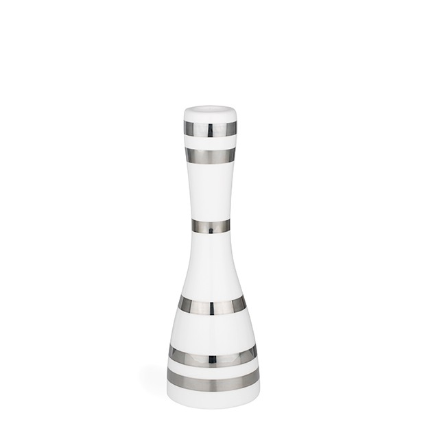 Kähler - Omaggio Candleholder Medium - Silver (692403)