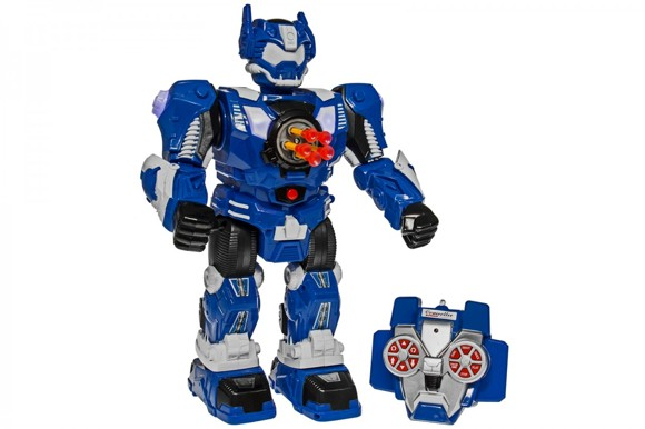 RC Shooting Robot - Blue