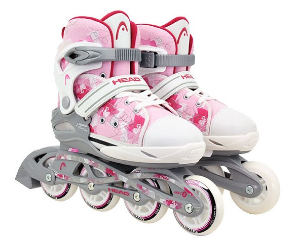 Head - Adjustable Inliners - White/Pink (size: 31-36 ) (895118340yyM)
