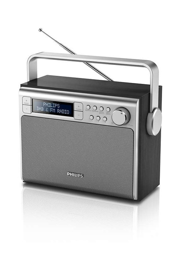 Philips - Portable DAB+ Radio AE5020B/12 Black