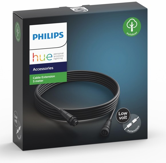 Philips Hue - Cable Extension 5m  Outdoor- White & Color Ambiance