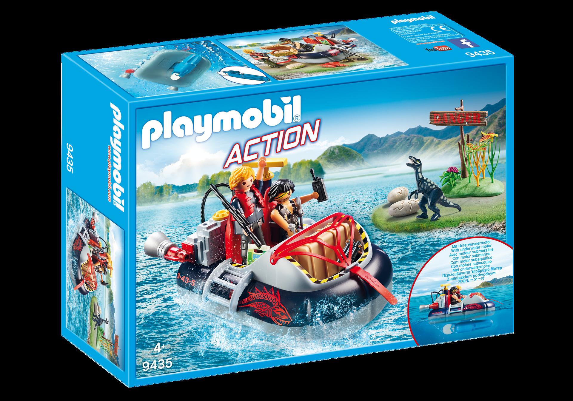 Playmobil - Dino Hovercraft with Underwater Motor