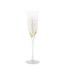 ​Rice - Champagne Glass with Gold Dots
