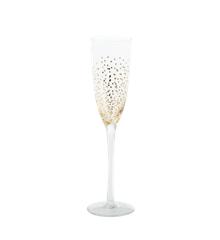 Rice - Champagneglas med Guld Prikker