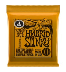 Ernie Ball - Hybrid Slinky - Strenge Sæt Til Elektrisk Guitar (009-046) (3 PAK)