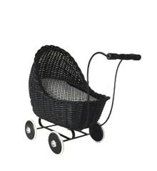 Smallstuff - Doll Stroller - Black
