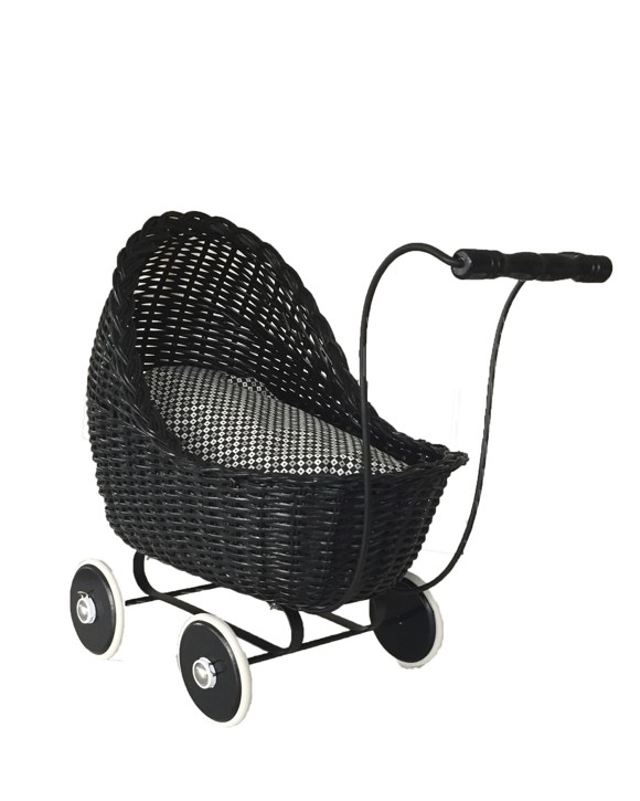 Smallstuff - Doll Stroller - Black