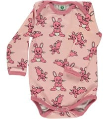 Småfolk - Body w.  Rabbit Print - Silver Pink