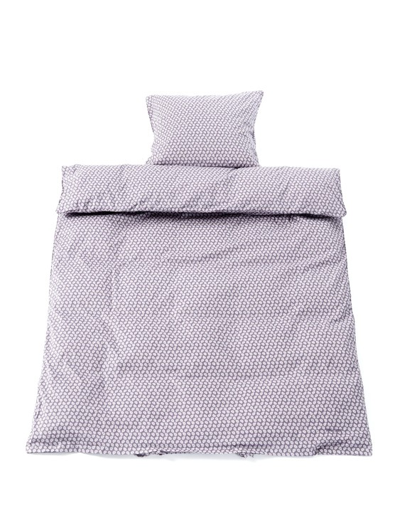 Smallstuff - Junior Bedding 100x140 cm - Big Leave Blue Rose