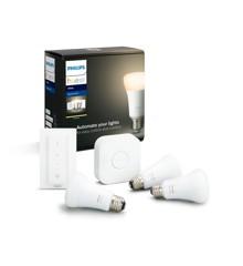 Philips Hue - White 3xE27 BT Pærer + Switch Starter Kit - White - Bluetooth