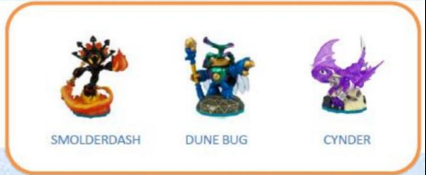 Skylanders Imaginators - Triple Pack - Smolderdash + Dunebug + Cynder