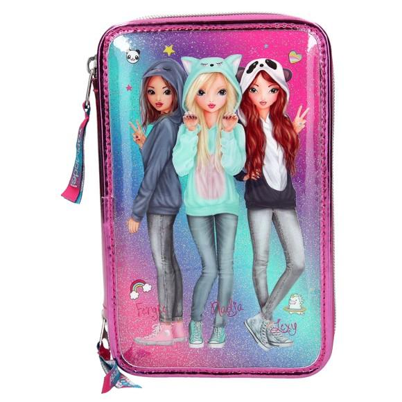 Top Model - Trippel Pencil Case Friends - Pink (0410148)