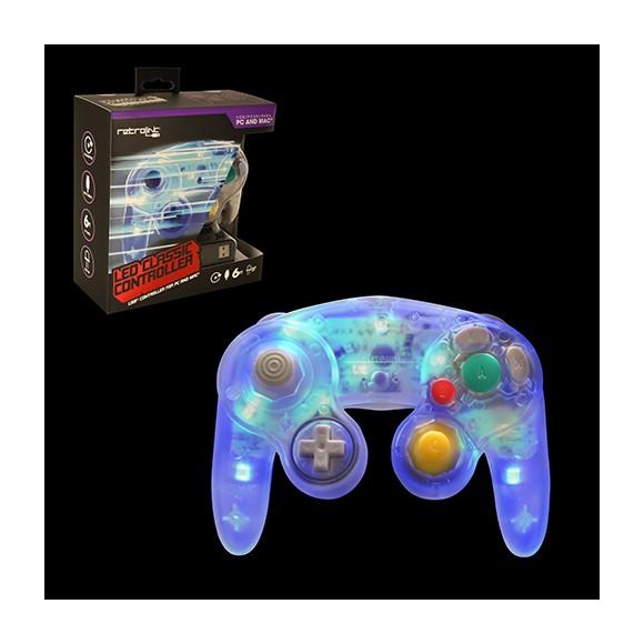 Gamecube Controller USB Blue LED Retr...