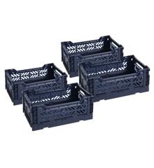 HAY - Colour Crate Kasse Sæt á 4 - Navy