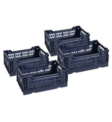 HAY - Colour Crate  Set of 4 - Navy