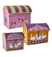 Rice - Large Set of 3 Toy Baskets - Carousel Theme