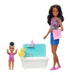 Barbie - Skipper Babysitter med Badekar & Baby
