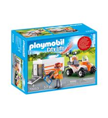 Playmobil - Redningsfirhjulstrækker med trailer (70053)