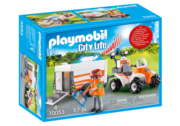 Playmobil - Rescue Quad with Trailer (70053)