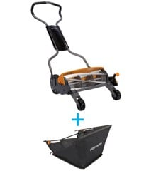 Fiskars - StaySharp Reel Mower + Grass Catcher