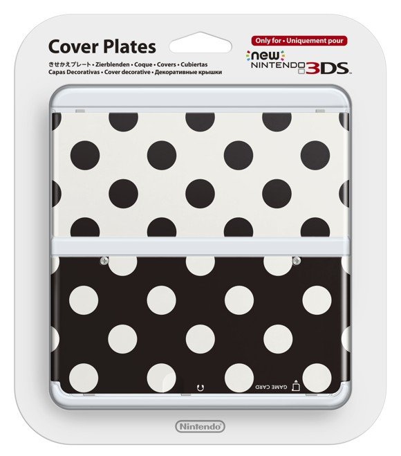 Official Cover Plate for New Nintendo 3DS - Black and White Dots