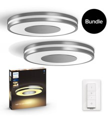 Philips Hue - 2x Being Ceiling Light Aluminium - Bundle