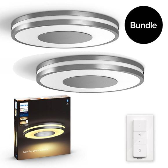 Philips Hue - 2x Being Ceiling Light Aluminium - Bundle