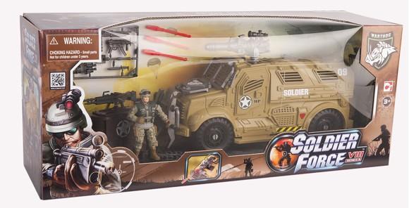 Soldier Force -  VIII Sand Cougar X Transporter Set (521005)