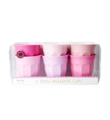 Rice - Små Melamin Kopper 6 stk - 50 Shapes of Pink