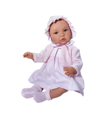 Asi dolls - Leonora doll in white dress, 46 cm
