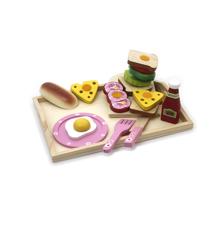 Magni - Morgenmadsbakke i Træ m/Tilbehør