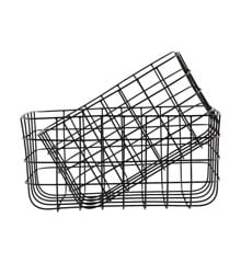House Doctor - Medium Simply Basket Set of 2 - Black (Sp0389)