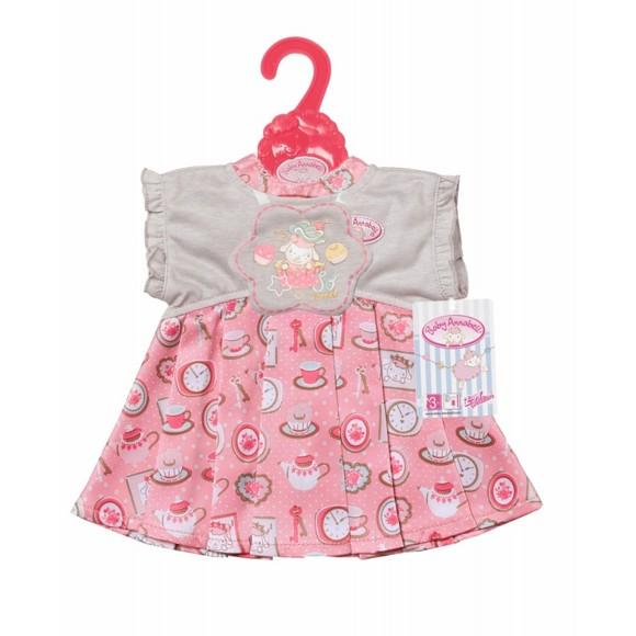 Baby Annabell - Grå og pink Kjole