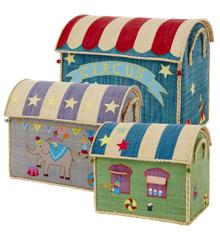 Rice - Large Set of 3 Toy Baskets - Circus Theme