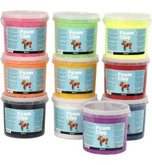 Foam Clay - Assorterede Farver  (10 x 560 g)